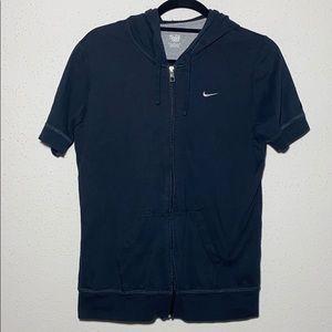 Nike Kids Large zip up hooded shirt